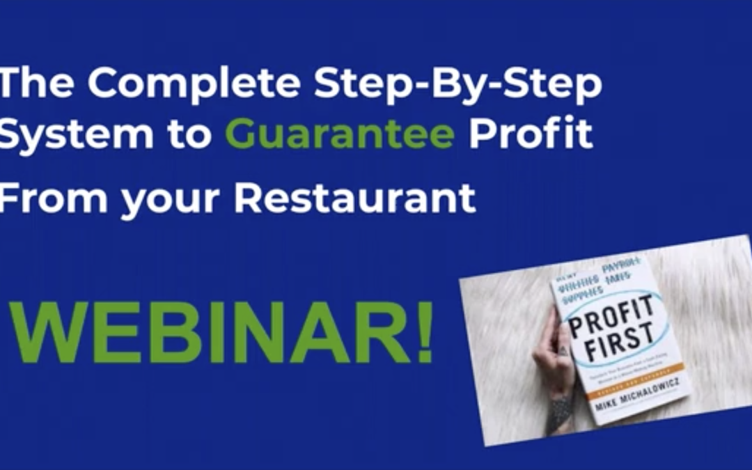 Guarantee Profit from your Restaurant!
